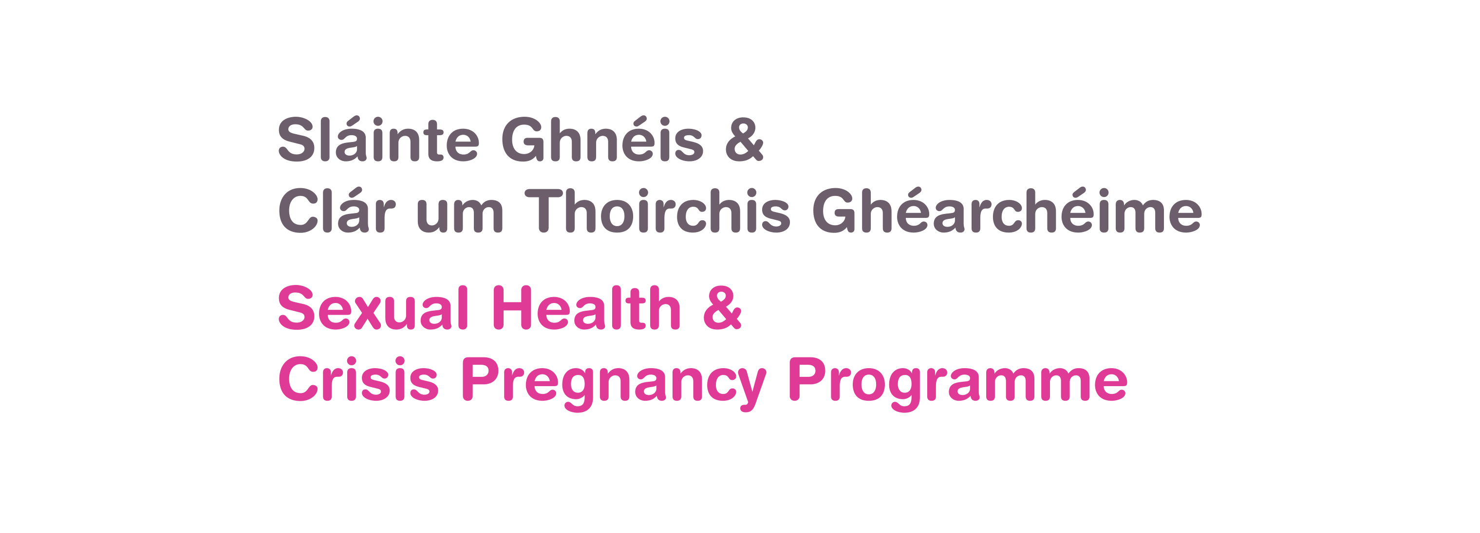 Sexual health and crisis pregnancy programme logo